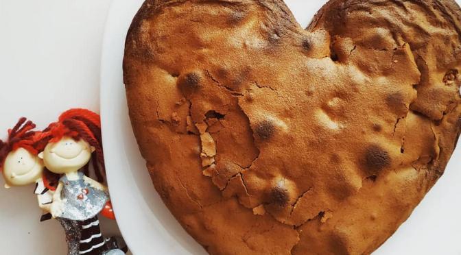 Brownie de chocolate y nueces para San Valentín