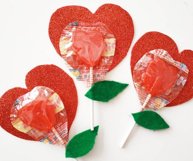 Piruleta con mensaje para San Valentín