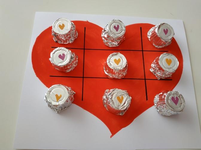 Tres en raya de San Valentín