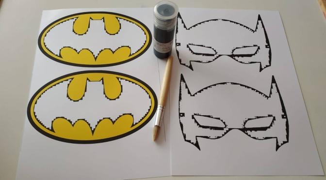 Imprimible gratis Batman para disfraz DIY